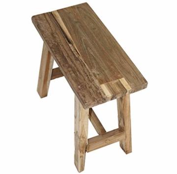 LioLiving®, Hocker West aus recyceltem Massivholz (#400156) - 5
