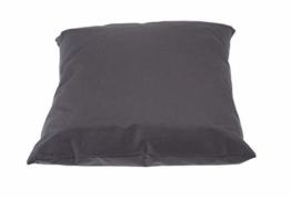 Outdoor Kissen 40x40 cm - in grau - Kissen für draußen - Wasserdicht - Für Lounge, Sitzecke, Liege etc. - 1