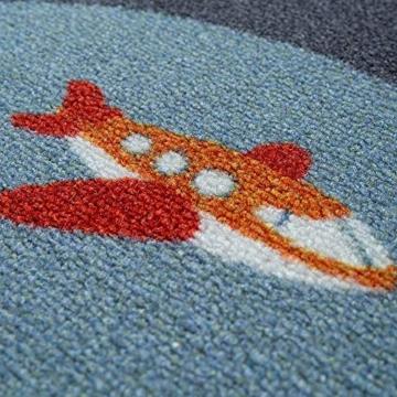 Paco Home Kinder-Teppich, Spiel-Teppich Für Kinderzimmer, Mit Straßen-Motiv, In Grün, Grösse:100x200 cm - 2