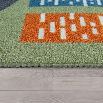 Paco Home Kinder-Teppich, Spiel-Teppich Für Kinderzimmer, Mit Straßen-Motiv, In Grün, Grösse:100x200 cm - 3