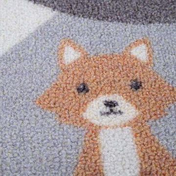 Paco Home Kinder-Teppich, Spiel-Teppich Für Kinderzimmer Straßen-Motiv Mit Tieren Creme, Grösse:80x150 cm - 2