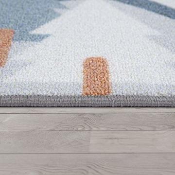 Paco Home Kinder-Teppich, Spiel-Teppich Für Kinderzimmer Straßen-Motiv Mit Tieren Creme, Grösse:80x150 cm - 3