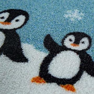 Paco Home Kinder-Teppich, Spiel-Teppich Für Kinderzimmer, Weltkarte Mit Tieren, In Grün, Grösse:160x220 cm - 2