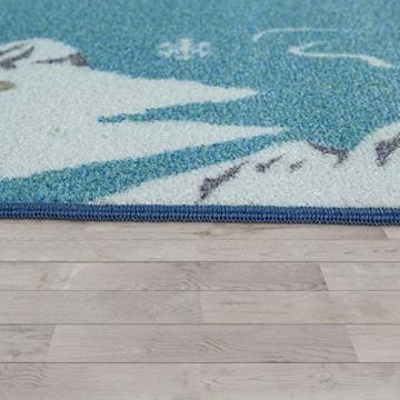 Paco Home Kinder-Teppich, Spiel-Teppich Für Kinderzimmer, Weltkarte Mit Tieren, In Grün, Grösse:160x220 cm - 3