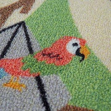 Paco Home Kinder-Teppiche, Kurzflor-Teppiche für Kinderzimmer mit vers. Designs Spielteppiche Bunt, Grösse:160x220 cm, Farbe:Beige - 2