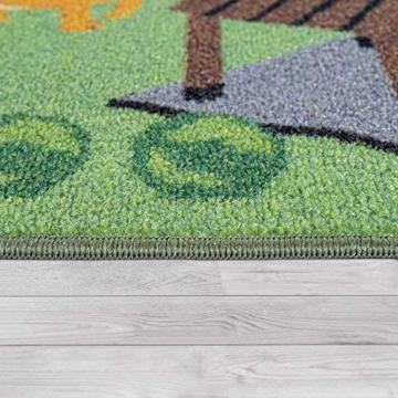 Paco Home Kinder-Teppiche, Kurzflor-Teppiche für Kinderzimmer mit vers. Designs Spielteppiche Bunt, Grösse:160x220 cm, Farbe:Beige - 3