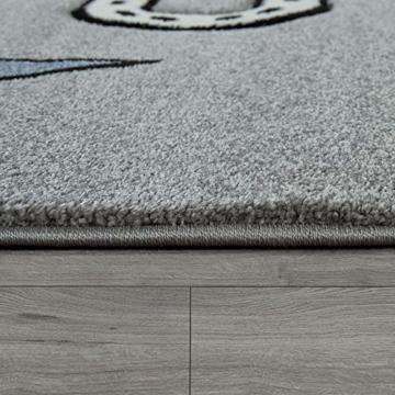 Paco Home Kinderteppich Kinderzimmer Modern Lernteppich Straße Auto Haus Design In Grau, Grösse:120x170 cm - 2