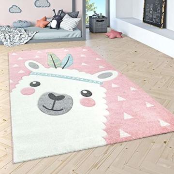 Paco Home Kinderteppich Kinderzimmer Moderne Pastell Farben, Niedliche Motive, 3D Effekt, Grösse:140x200 cm, Farbe:Grau - 3