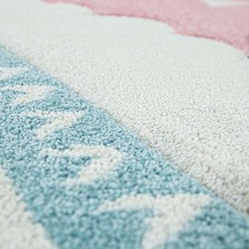 Paco Home Kinderteppich Kinderzimmer Moderne Pastell Farben, Niedliche Motive, 3D Effekt, Grösse:140x200 cm, Farbe:Grau - 7