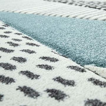 Paco Home Kinderteppich, Kinderzimmer Pastell Teppich mit 3D Wolken u. Stern Motiven, Grösse:80x150 cm, Farbe:Creme - 3
