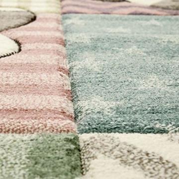 Paco Home Kinderteppich, Moderner Kinderzimmer Pastell Teppich, Niedliche 3D Tiermotive, Grösse:80x150 cm, Farbe:Mehrfarbig - 3