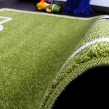 Paco Home Teppich Kinderzimmer Fußball Spielteppich Kinderteppich Fußballplatz Grün, Grösse:160x220 cm - 3