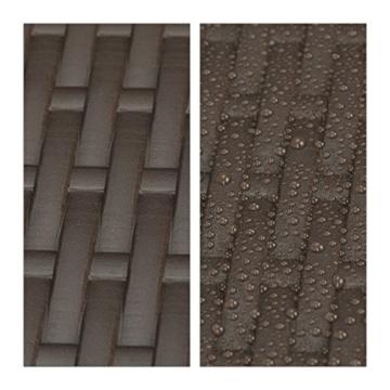 Relaxdays Balkonhängetisch BASTIAN klappbar, 3-fach höhenverstellbarer Klapptisch, Tischplatte B x T: 60 x 40 cm, braun - 5