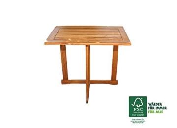 SAM 3-TLG. Balkongruppe Alessio, 1x Tisch 70x45 cm + 2X Klappstuhl, Balkon-Set aus Akazien-Holz, FSC® 100% Zertifiziert - 2