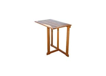 SAM 3-TLG. Balkongruppe Alessio, 1x Tisch 70x45 cm + 2X Klappstuhl, Balkon-Set aus Akazien-Holz, FSC® 100% Zertifiziert - 3