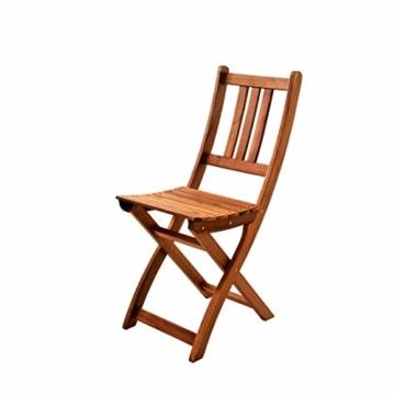 SAM 3-TLG. Balkongruppe Alessio, 1x Tisch 70x45 cm + 2X Klappstuhl, Balkon-Set aus Akazien-Holz, FSC® 100% Zertifiziert - 4