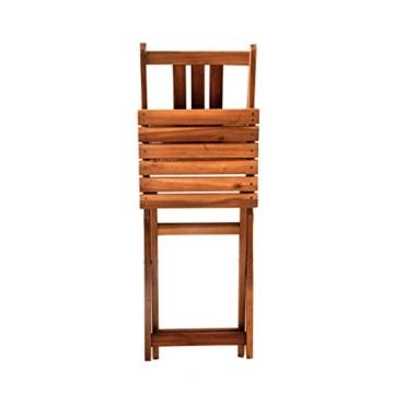 SAM 3-TLG. Balkongruppe Alessio, 1x Tisch 70x45 cm + 2X Klappstuhl, Balkon-Set aus Akazien-Holz, FSC® 100% Zertifiziert - 6