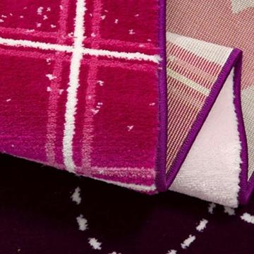 SANAT Teppich Kinderzimmer - Lila/Rosa Kinderteppich für Mädchen und Jungen Öko-Tex 100 Zertifiziert, Größe: 80x150cm - 5