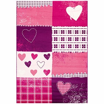 SANAT Teppich Kinderzimmer - Lila/Rosa Kinderteppich für Mädchen und Jungen Öko-Tex 100 Zertifiziert, Größe: 80x150cm - 6