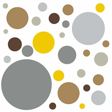 timalo® 120 Stück Wandtattoo Kinderzimmer Kreise Pastell Wandsticker – Aufkleber Punkte | 73078-SET10-120 - 2
