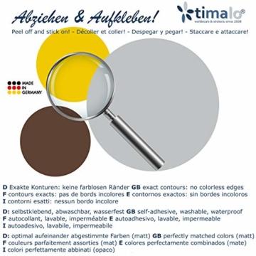 timalo® 120 Stück Wandtattoo Kinderzimmer Kreise Pastell Wandsticker – Aufkleber Punkte | 73078-SET10-120 - 5