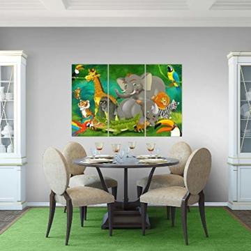 Bilder Kinderzimmer Tiere Wandbild 120 x 80 cm Vlies - Leinwand Bild XXL Format Wandbilder Wohnung Deko Kunstdrucke - MADE IN GERMANY - Fertig zum Aufhängen 001831a - 8