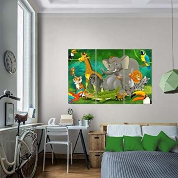 Bilder Kinderzimmer Tiere Wandbild 120 x 80 cm Vlies - Leinwand Bild XXL Format Wandbilder Wohnung Deko Kunstdrucke - MADE IN GERMANY - Fertig zum Aufhängen 001831a - 9