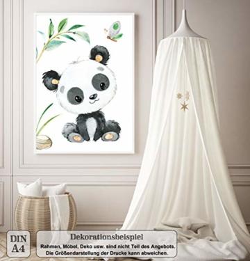LALELU-Prints | A4 Bilder Kinderzimmer Deko Mädchen Junge | Zauberhafte Dschungel-Tiere | Poster Babyzimmer | 6er Set Kinderbilder (DIN A4 ohne Rahmen) - 8