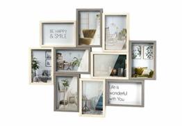 Bilderrahmen-Collage - Gray - Holz - weiß Natur - 10 Bilder - 55x46 cm - 1