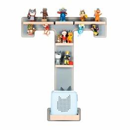 BOARTI Kinder Regal Buchstabe T in Grau - geeignet für die Toniebox und ca. 32 Tonies - zum Spielen und Sammeln - 1
