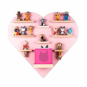 BOARTI Kinder Regal Herz in Rosa - geeignet für die Toniebox und ca. 38 Tonies - zum Spielen und Sammeln - 1