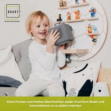 BOARTI Kinder Regal Trecker small in Grau - geeignet für die Toniebox und ca. 23 Tonies - zum Spielen und Sammeln - 3