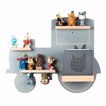 BOARTI Kinder Regal Trecker small in Grau - geeignet für die Toniebox und ca. 23 Tonies - zum Spielen und Sammeln - 1