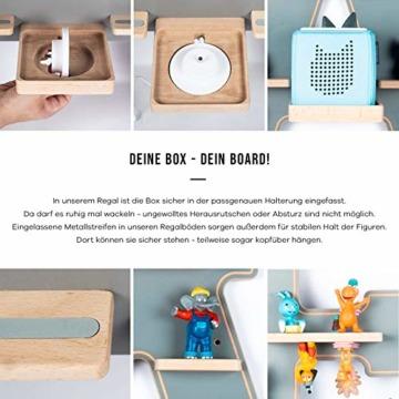 BOARTI Kinder Regal Trecker small in Grau - geeignet für die Toniebox und ca. 23 Tonies - zum Spielen und Sammeln - 6