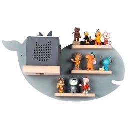 BOARTI Kinder Regal Wal small in Grau - geeignet für die Toniebox und ca. 20 Tonies - zum Spielen und Sammeln - 1