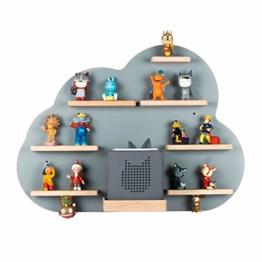 BOARTI Kinder Regal Wolke in Grau - geeignet für die Toniebox und ca. 43 Tonies - zum Spielen und sammeln - 1
