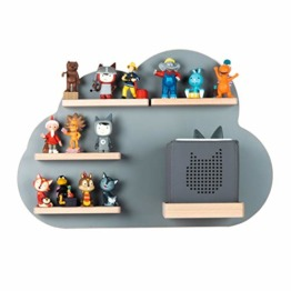 BOARTI Kinder Regal Wolke small in Grau - geeignet für die Toniebox und ca. 25 Tonies - zum Spielen und sammeln - 1