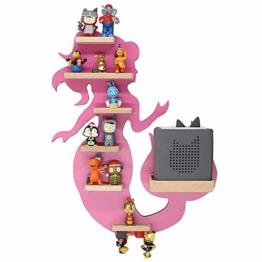 BOARTI Meerjungfrau Kinder Regal small in Pink - geeignet für die Toniebox und ca. 23 Tonies - zum Spielen und Sammeln - 1