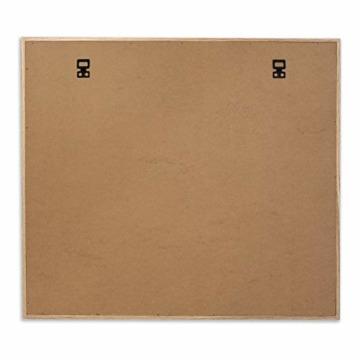 Cheers UG Bilderrahmen aus Holz 50 x 43 x 2,5 cm, Fotowand zum Anbringen von Fotos, Postkarten UVM, Fotorahmen/Collage mit Stabiler Rückwand, inkl. Naturseil & 10 Klammern - 4