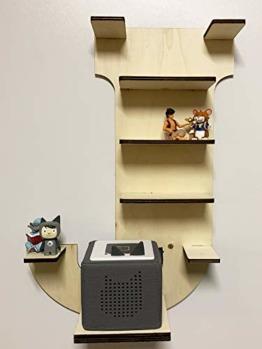 DIY Regal Buchstabe A-Z für die Musikbox passend für Toniebox Kinder Baby Zimmer zum selbst bemalen mit Wunschname tolles individuelles Geschenk zum Geburtstag zu Ostern Weihnachten (Buchstabe: J) - 1