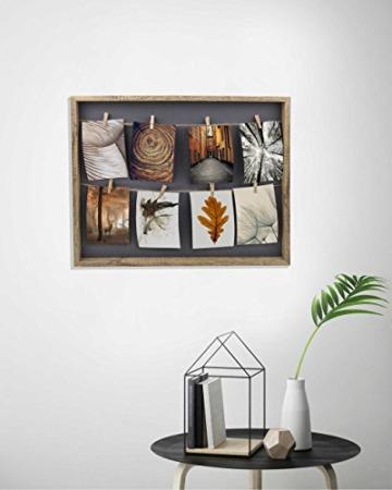 Gallery Solutions Bilderrahmen Collage Wäscheleine mit Klammern, 8 Fotos à 10x15 cm, Natur - 4
