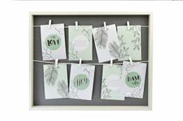 Gallery Solutions Collage mit Klammern, 8 Fotos à 10x15 cm, Weiß/Grau - 1