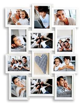 levandeo Bilderrahmen Weiß 12 Fotos 13x18 cm Hochformat Querformat Fotogalerie Collage Fotorahmen Bildergalerie Fotocollage Galerie Wanddeko - 1