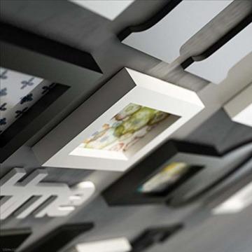 LONG Bilderrahmen Collage Massivholz Kombination Wohnzimmer-Foto-Rahmen-Wand kreatives Restaurant Hintergrund Wanddekoration (Farbe : Schwarz) - 5