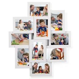 """SONGMICS Bilderrahmen Collage für 10 Fotos, je 10 x 15 cm (4"""" x 6""""), aus MDF-Platten, Montage erforderlich, weiß RPF20WT - 1"""