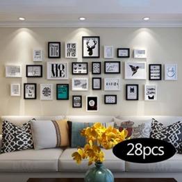 Unbekannt Bilderrahmen-Set Fotowand hölzerne Fotorahmenwand einfache Wohnzimmerwand-Fotorahmenhauptkombination Sofa-Hintergrundwand-Fotorahmen Schlafzimmerfotowand - 1
