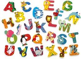 INDIGOS UG - Holzbuchstabe - L - für Kinder und Babys - Motiv Tiere für das Kinderzimmer, Schule, Kindergarten, zum Spielen, Basteln und Sammeln - 1
